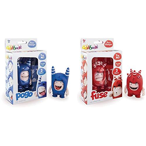 ODDBODS Cambiadores de cara – Pogo y Fusible – Figuras de juguete interactivas con expresiones animadas cambiantes – Juguetes para niños, juego de 2