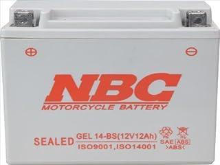 NBC [ エヌビーシー ] シールド型 バイク用バッテリー [ GELタイプ ] [ 液入充電済 ] GEL 14-BS