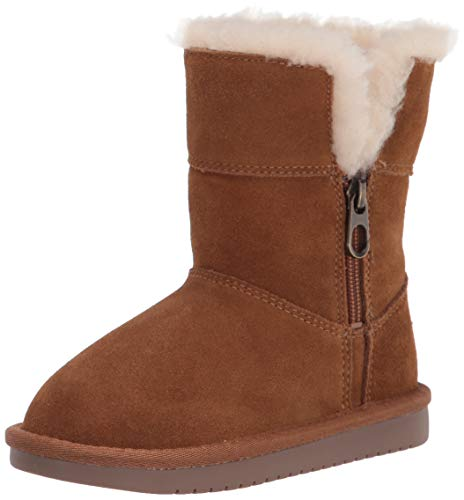 Koolaburra by UGG Girls Aribel Short Fashion Boot, Chestnut, 4 Little Kid