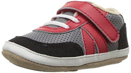 Robeez Baby-Girl's Crib Shoe, Dot Mania Metallic/Grey, 0-6 Months M US Infant
