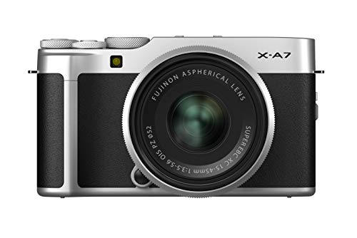 Fujifilm X-A7 Kit cámara con Objetivo Intercambiable XC15-45/3.5-5.6, Color Plata