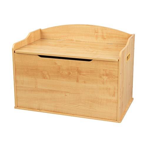 KidKraft Austin Baúl con Tapa para almacenaje de Juguetes, Muebles para Salas de Juego y Dormitorio de niños, Marrón (Madera), 77,6 x 46,4 x 49,8 cm , color/modelo surtido