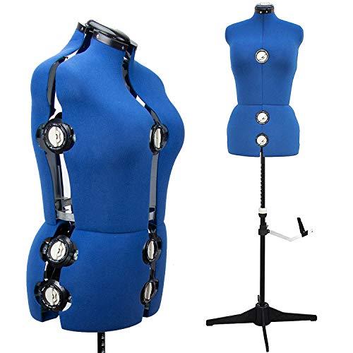 Maniquí de maniquí ajustable para mujer, con 13 diales para costura, costura, costura,...