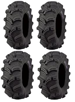 Full set of Kenda Executioner  6ply  26x10-12 and 26x12-12 ATV Tires  4