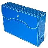 Grafoplás 70905830. Pack de 25 Cajas de Archivo Definitivo Plástico, Color Azul, Tamaño Folio, 36x26,3x9,5cm