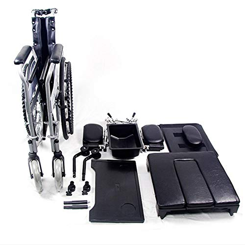 MYYLY rolstoel, stalen rolstoel, lichtgewicht, inklapbare handmatige rolstoel met hoge rugleuning, hoge stabiliteit en luchtbanden. Alle rolstoelen die in de rolstoel zitten zitten zitten zitten zitten in de rolstoel.