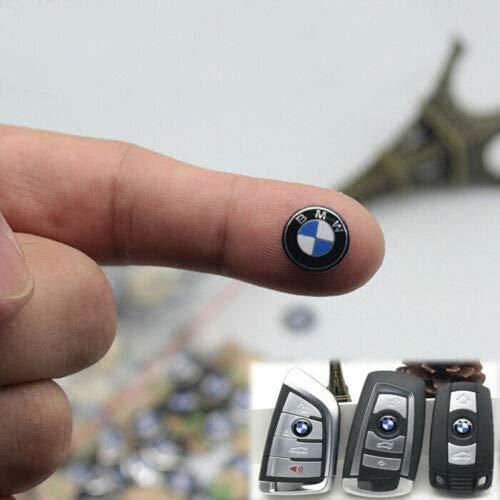YDZXB 4 Stück Embleme PlaketteAufkleber Abzeichen Reifen Farbe hintere Kotflügel Seiten Embleme für BMW - 3D Aufkleber Typenschild Auto Aufkleber Logo Aufkleber Fit für alle BMW M Kleber Aufkleber