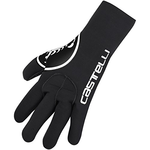Castelli Mens Diluvio C Glove Winter Cycling Gloves - Insulated Winter Gloves for Rain and Cold Weather, XX-Large, Black