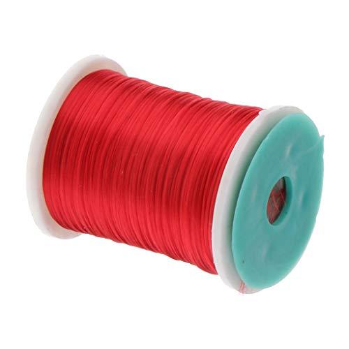CUTICATE Hilo De Pesca con Mosca De 250 M Materiales De Atado De Moscas para Señuelos Cebo Herramienta De Bricolaje - Rojo