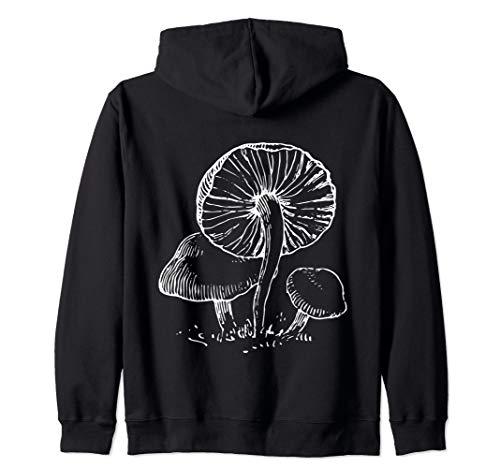 Stylish Bohemian Mushrooms Botany Zip Hoodie
