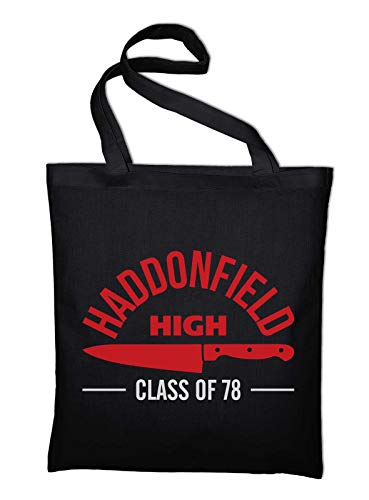 Styletex23 Haddonfield High School Halloween Jutebeutel Shopping Bag, schwarz