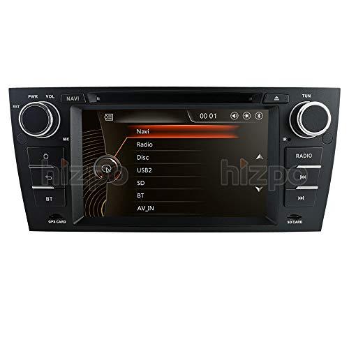 hizpo 7 Inch Single Din Car Stereo Radio Car GPS Navigator DVD Player Mirrorlink Bluetooth Multi Touch Screen Fit for BMW 3 Series E90/E91/E92/E93 2006 2007 2008 2009 2010 2011 2012