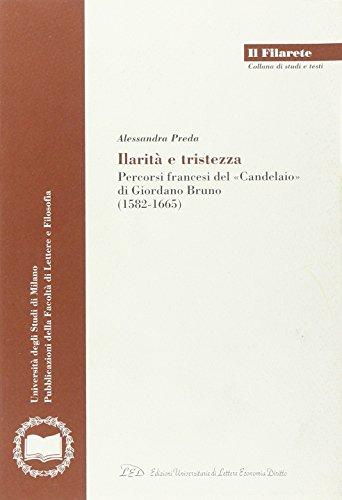 Ilarità e tristezza. Percorsi francesi del «Candelaio» di Giordano Bruno (1582-1665)