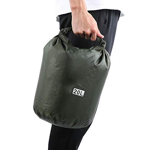 SALUTUYA Bolsa Seca Impermeable de tamaño Compacto Plegable para Senderismo, Ciclismo, Deportes de vadeo(Army Green Print, 20L)
