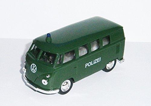 Anik-Shop Bus T1 1963 Bulli Polizei Feuerwehr Modell Modellauto Spielzeugauto 28 (Polizei, Grün)