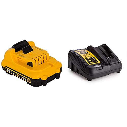 Dewalt DCB127-XJ Bateria DCB 127 XJ 10,8 V. 2,0 A/h, 10.8 V, Negro Y Amarillo + DEWDCB115Baterías y Cargadores