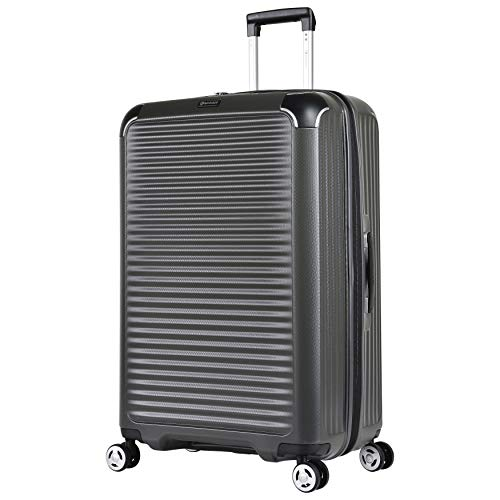 Eminent Suitcase Materia L 77cm 109L Travel Luggage Large Lightweight Hardside 4-Wheel Trolley Grey