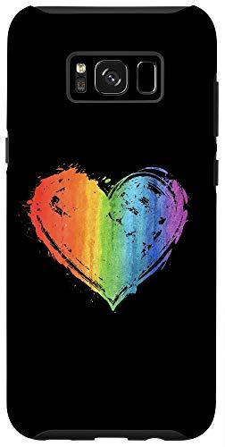 Galaxy S8+ LGBT Gay Lesbian Pride Heart Flag Case