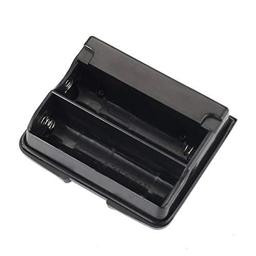 healthwen Para el Paquete de baterías Yaesu Walkie Talkie Vx-5r Vx-6r Vx-7r Fba-23 Estuche para Pilas Vx-710 Soporte 2 Estuches para Pilas alcalinas AA Bolsas Negro