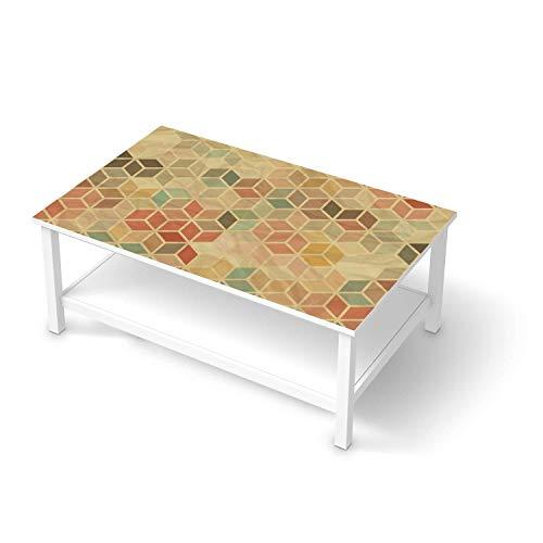 creatisto Möbeltattoo passend für IKEA Hemnes Couchtisch 118x75 cm I Möbeldekoration - Möbel-Aufkleber Folie Tattoo I Deko DIY für Schlafzimmer, Wohnzimmer - Design: 3D Retro