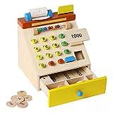 Gfhrisyty Kinder Supermarkt Holz Simulation Registrierkasse Kasse Kasse Spiel Vorgeben Spielzeug...