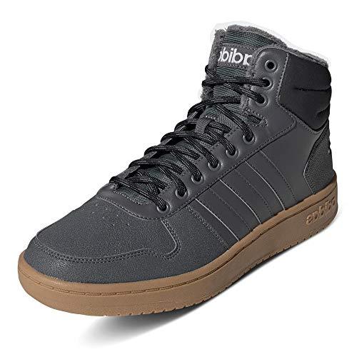 adidas Hoops 2.0 Mid, Zapatos de Baloncesto Hombre, Gris (Grey Five/Grey Five/Core Black Grey Five/Grey Five/Core Black), 49 1/3 EU