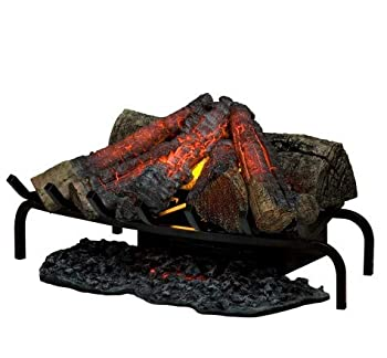 Dimplex DLG1058 Open Hearth Fireplace Insert with Faux Logs Bed Black