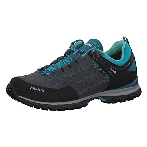 Meindl Damen Schuhe Ontario Lady GTX 3937 anthrazit/türkis 39.5 (UK 6)