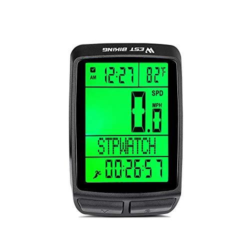 Iriisy Ciclocomputador para Bicicleta, Velocímetro de Bicicleta de Retroiluminación, con Pantalla LCD,...