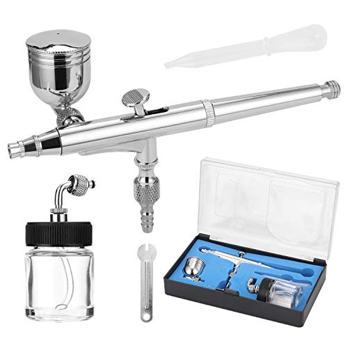 Professional T134 Airbrush Set for Model Making Art Painting with G1/8 Adapter Wrench Dropper 2 Fluid Cups