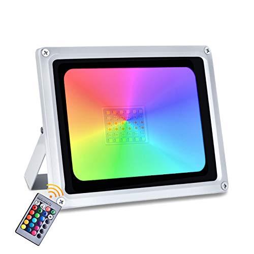 30W 50W 100W RGB Faretto LED Esterno16 colori di Faretto Proiettore LED con luce dimmerabile impermeabile impermeabile di modo 4 di IP65 pe (30W)