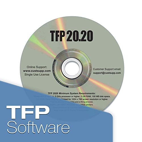 W2 Tax Forms 2020 - Tangible Values 4-Part, 25 Pack Laser Tax Form Kit with Envelopes - Includes TFP Software Photo #2