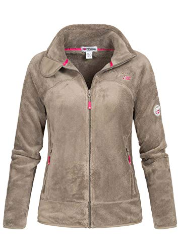 Geographical Norway Damen Fleece Jacke UPALINE Taupe M