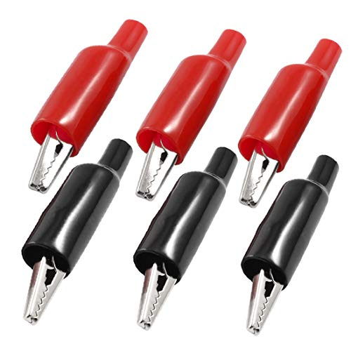 X-Dr 6 Stück Kunststoffstiefel beschichtete Testklemme Metallkrokodilklemmen 2,2' 'Länge (26fe6157d47686cdd3c2460533486864)