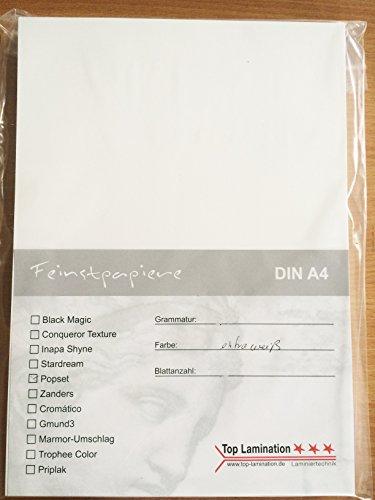Top Lamination 25 vellen DIN A5 wit papier, 120 g/m2, voor uitnodigingen, inlegbladen, bruiloftskaarten, fotoalbum, posters, affiches, knutselen