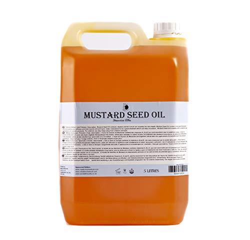 Mystic Moments Huile de Base Graine de Moutarde - 5 litres - 100% Pure