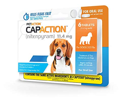 CapAction Oral Flea Treatment Small Dog, 6ct
