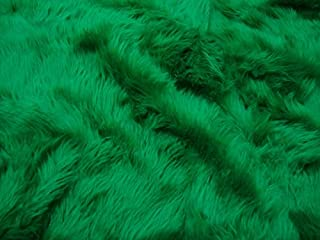 Luvfabrics Half A Yard Furry Shaggy Faux Fur Upholstery Fabric - Costumes, DIY Project, Stuffed Animals, Pillows, Blankets, Clothing, Upholstery, More! (Kelly Green)