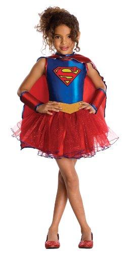 Rubies - Disfraz oficial de Supergirl con tutú de la serie de TV Superhero Girls para niña
