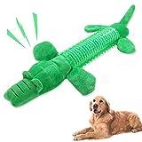 Robuste Zähne,Hundespielzeug aus Seil,Hundespielzeug große hunde set,Hundespielzeug ist ungiftig,Mittelgroße Hundespielzeug,Hundeseil spielzeug welpe,Kauspielzeug für robuste Zähne(Krokodil)