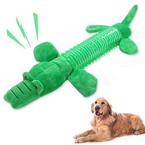 Hundespielzeug,stofftier für hunde,Spielzeug für Hunde,Kauspielzeug für robuste Zähne,Mittelgroße Hundespielzeug,Hundespielzeug ist ungiftig ,Hundespielzeug große hunde set,Spielzeug welpen(Krokodil)
