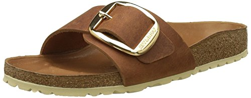 BIRKENSTOCK 1006524 Madrid Big Buckle Nubukleder geölt normal Sandalen Cognac|42