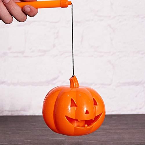 Halloween tragbare Kürbis Licht Aktivität Dekoration Requisiten große mittlere und kleine Kürbislaterne 7cm (Bend Eye) Kürbiseimer Gugutogo
