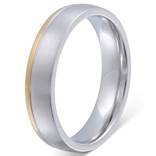 Juwelier Schönschmied - Unisex Freunschaftsring Hochzeitsring Partnerring Svetlana Edelstahl inkl. persönliche Lasergravur 58 (18.5) LANr97H