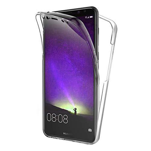 TBOC Funda para Huawei Mate 10 Lite (5.9') - Carcasa [Transparente] Completa [Silicona TPU] Doble Cara [360 Grados] Protección Integral Total Delantera Trasera Lateral Móvil Resistente Golpes