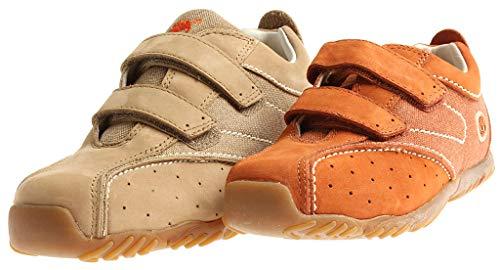 Timberland Jungen Sneaker Leder Low Top 46767 Ledersneaker Kinderschuhe Freizeit Farbe Orange, Schuhgröße 30