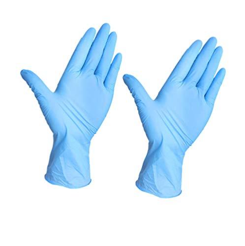 Wegwerphandschoenen, 100 of 200 stuks, rubber, comfortabele mechanische wegwerp-nitrilhandschoenen, controle handschoenen, vaatwasser/keuken/geneeskunde/werk/rubber/tuinhandschoenen Large 100 stuks.