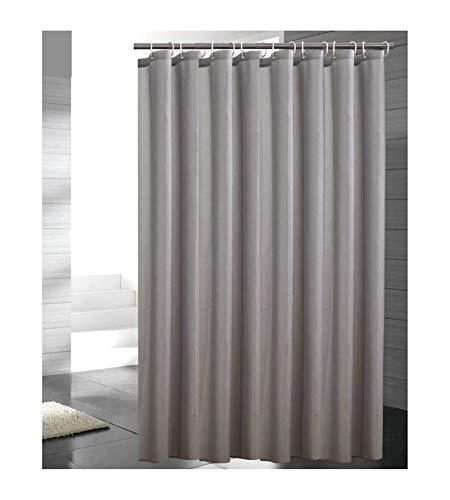 MaxAst Duschvorhang Wasserdicht Anti-Schimmel Duschvorhang Einfacher Duschvorhang Polyester Hellgrau Badewanne Vorhang 300x200CM