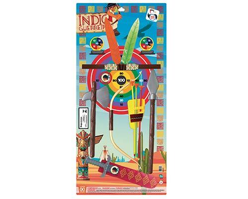 Arco e Flecha Brinquedo Índio Guerreiro Grande, Pica Pau Brinquedos, Multicor