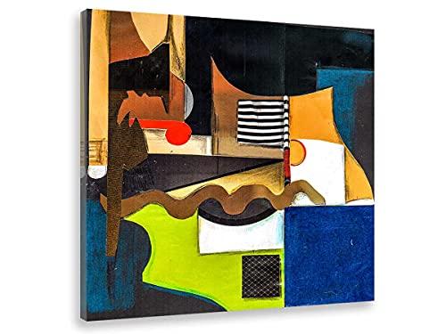 Hexoa Cuadro abstracto paisaje percepción, fabricado en Francia, cuadro de cristal acrílico – 50 x 50